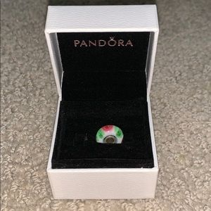 Pandora White with Roses and Petals Charm
